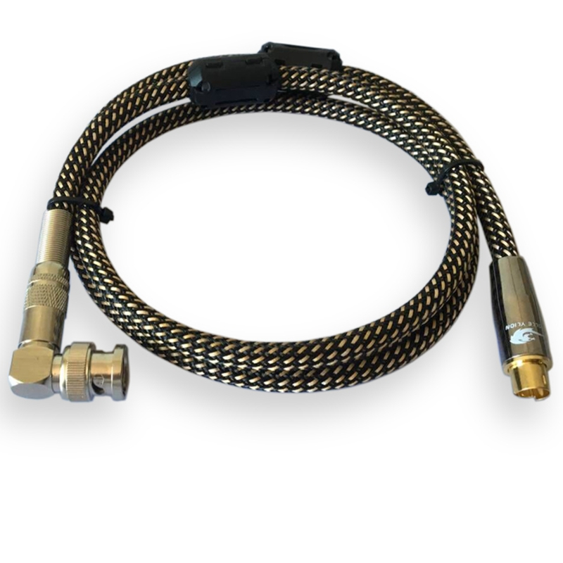 Video Cable 90 Degree Angle Q9 BNC to S-video 4 Pin Male to Male 75-5 Monitor Video Signal Interconnect Cable OFC 1M 2M 3M