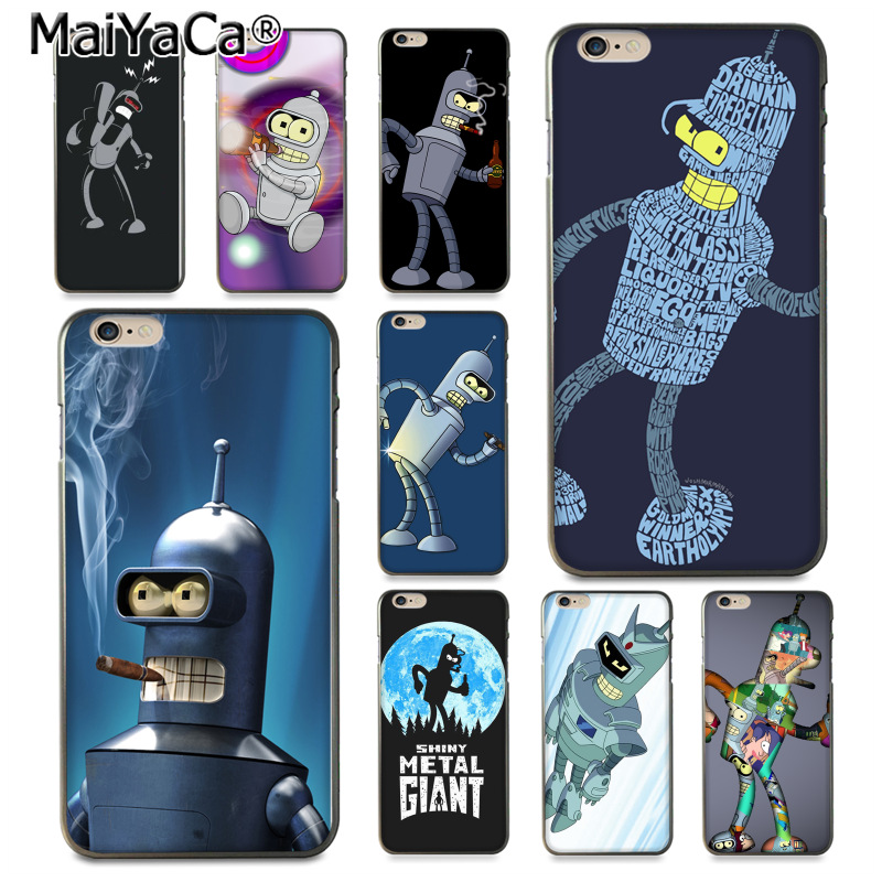 MaiYaCa Futurama Bender lovely Soft Phone Accessories Case for iPhone