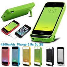 For iPhone5 5s 5c Battery Charger Case 4200mAh External Battery Pack Power Case Power Bank Charging Case Cover for iPhone5 5s 5c