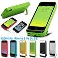 Para iPhone5 5S 5c Carregador de Bateria Caso 4200 mAh Bateria Externa Caso poder Banco Do Poder de Carregamento Da Tampa Do Caso para iPhone5 5S 5c