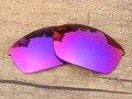 Roxo Vermelho Espelho Polarizado Lentes de Substituição Para O Flak Jacket Sunglasses Quadro 100% UVA & Uvb