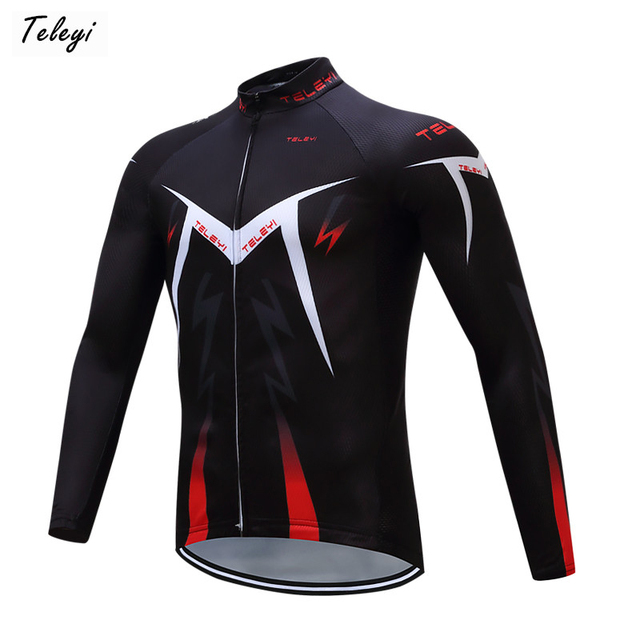 Teleyi 2017 Long Sleeve Pro Team Cycling Jersey Men Racing Sport mtb Bike  Jersey Top Ropa cc241d990