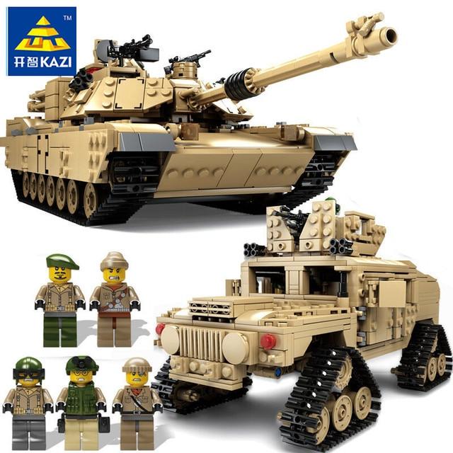 קאזי חדש נושא טנק אבני בניין 1463pcs אבני בניין M1A2 אברמס MBT KY10000 1 שינוי 2 צעצוע טנק דגמים צעצועים לילדים