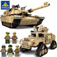 KAZI Neue Thema Tank Bausteine 1463 stücke Bausteine M1A2 ABRAMS MBT KY10000 1 Ändern 2 Spielzeug Tank Modelle spielzeug Für Kinder