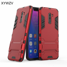 Pocophone F1 Case Silicone Robot Hard Rubber Phone Cover For Xiaomi Coque Fundas