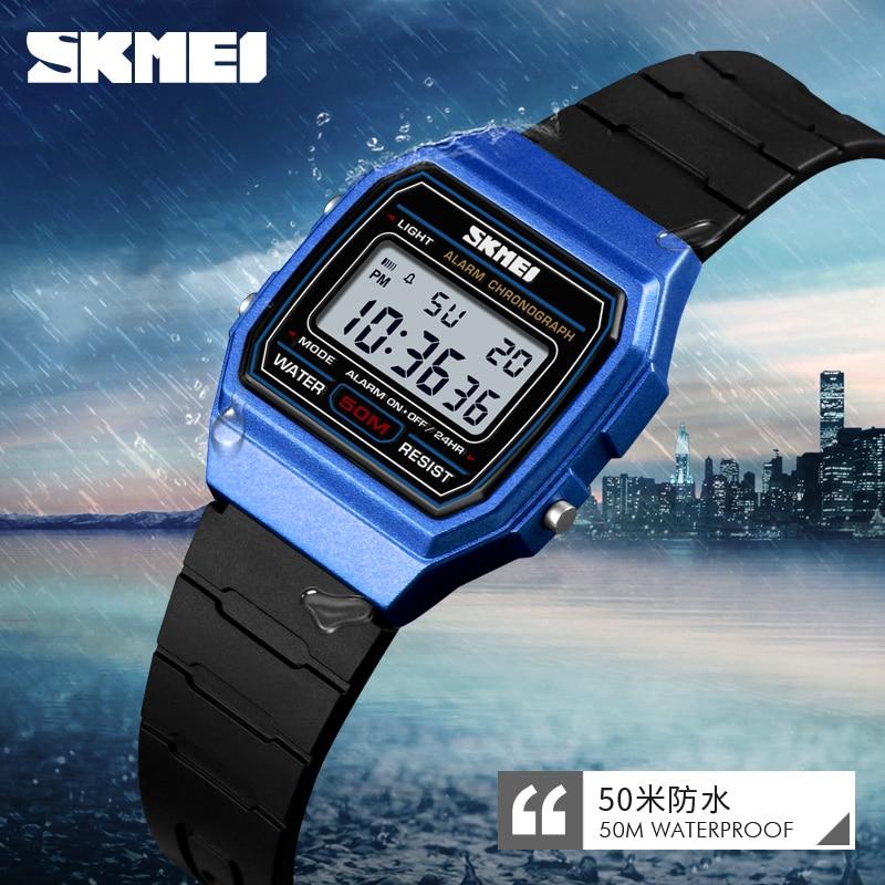 SKMEI Children Electronic Wristwatch Waterproof Luminous Week Display Kids Boys Girls Watches Stop Watch Alarm Buckle Clock