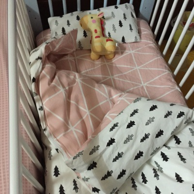 Promotion! 3PCS Baby bedding set crib bedding set 100% cotton bed clothes bed decoration,include(Duvet Cover/Sheet/Pillow Cover)