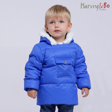 Харви и бо ребенка пуховик водонепроницаемые дети мальчики девочки халат / одеяние куртка с капюшоном осень зима детская одежда