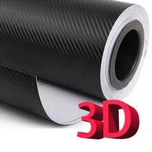 3D/5D karbon elyaflı vinil Film DIY araba Tuning bölüm çıkartmalar araba sarma rulo filmi şekillendirici aksesuarları motosiklet çıkartmaları