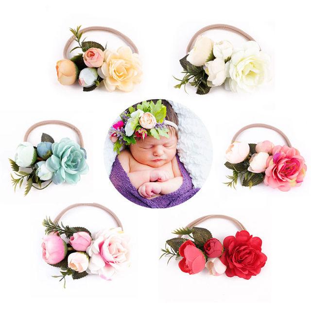 2017 New Kids Girl Baby Toddler Infant Flower Headband Hair Band Headwear Accessories Party Wear Flower Headband 1
