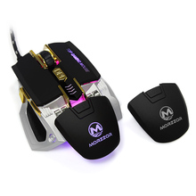 2017 New Arrival Wired USB Gaming Mechanical Mouse Programmable Ergonomics 8 Buttons 4 Colors Light 4000DPI For Pro Gamer Mice  все цены