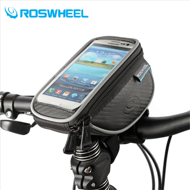 ROSWHEEL Bike Bag Bicycle Handlebar Phone Bag Accessories Bycicle Basket Cycling Bags Pannier 4.2 5.0 5.5 Inch Touch Screen