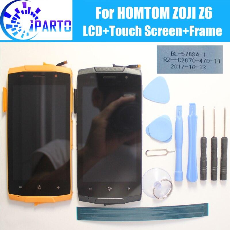 HOMTOM ZOJI Z6 écran LCD + écran tactile + cadre assemblage 100% Original LCD numériseur panneau en verre pour HOMTOM ZOJI Z6 + outils