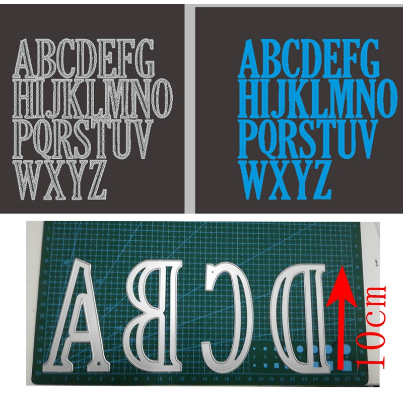 10cm 4inches Large Alphabets A to Z Whole set Metal Cutting Dies Stencil Scrapbook Album Embossing