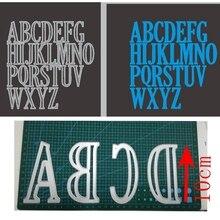 10cm 4 cale duże alfabety od A do Z cały zestaw metalowe wykrawacze szablony Album księga gości tłoczenie na prezent tworzenie kartek