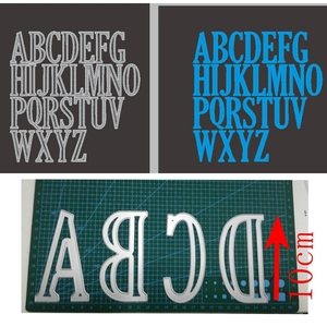 Image 1 - 10cm 4inches Large Alphabets A to Z  Whole set  Metal Cutting Dies Stencil Scrapbook Album Embossing For Gift Card Making