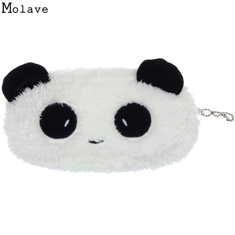 Cute Plush Pander Coin Purse Unisex Soft Plush Women Cartoon  Wallet  Key Pouch Coin Purse Christmas Gifts Dec6 m215 cute cartoon pets akita dog siberian husky personality plush coin purse wallet girl women student gift wholesale