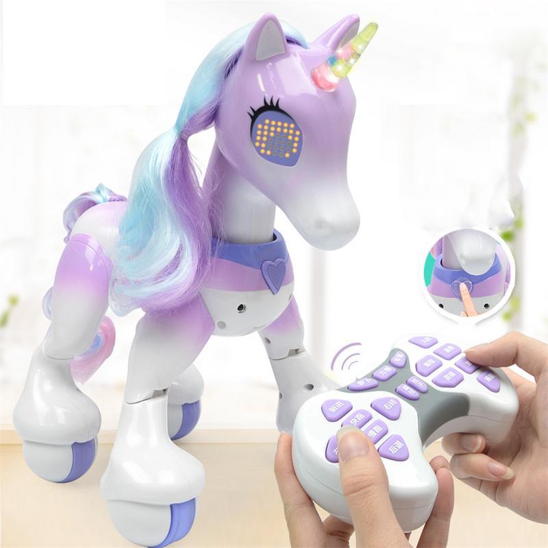 Nouveau Intelligente Électrique Cheval Intelligent Télécommande Licorne Enfants Jouets Mignon Animal RC Robot Jouet Éducatif Enfants Cadeaux - 4
