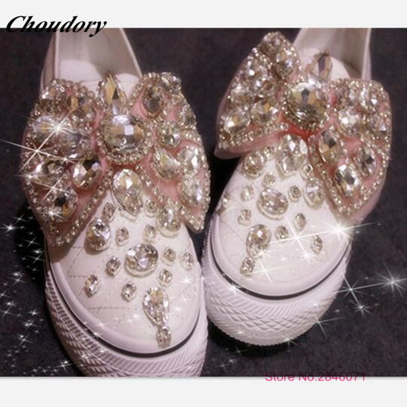 ФОТО Pure Handmade Muti Diamond Embellished Butterfly Women Flats Spring Autumn Hot Thick bottom Oxford Shoes For Women Zapatos Mujer