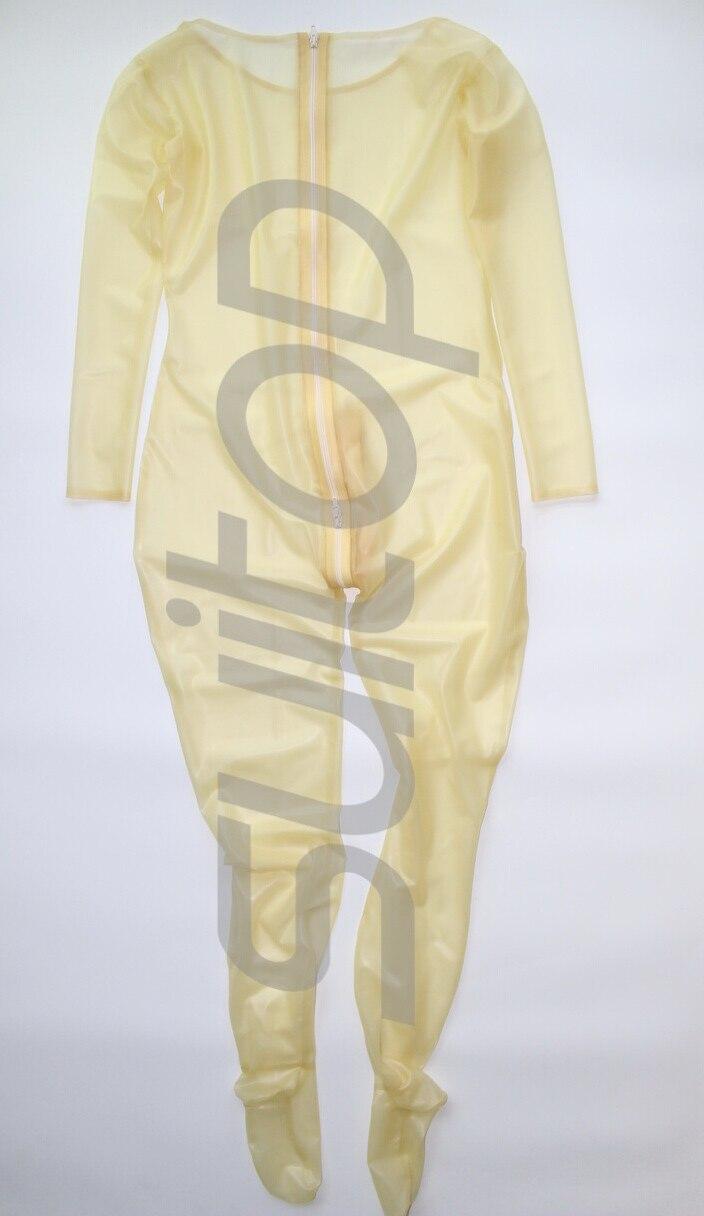 Suitop Быстрая доставка природа прозрачный латекс боди с Носки для женщин 0,3 мм толщина