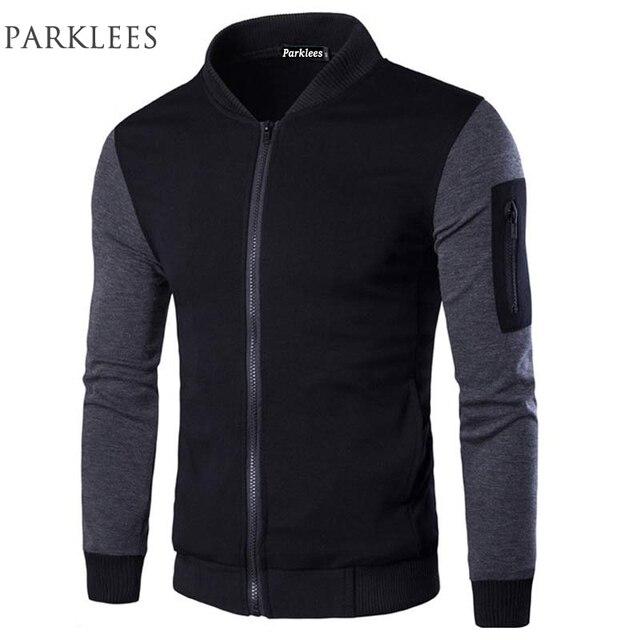 Bomber Jacket Men Veste Blouson Homme 2017 Mens Fashion Patchwork ...
