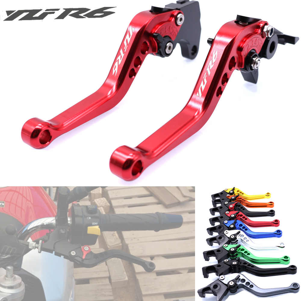 For Yamaha YZFR6 YZF R6 1999-2004 2000 2001 2002 2003 Motorcycle Accessories CNC Short Brake Clutch Levers LOGO YZFR6