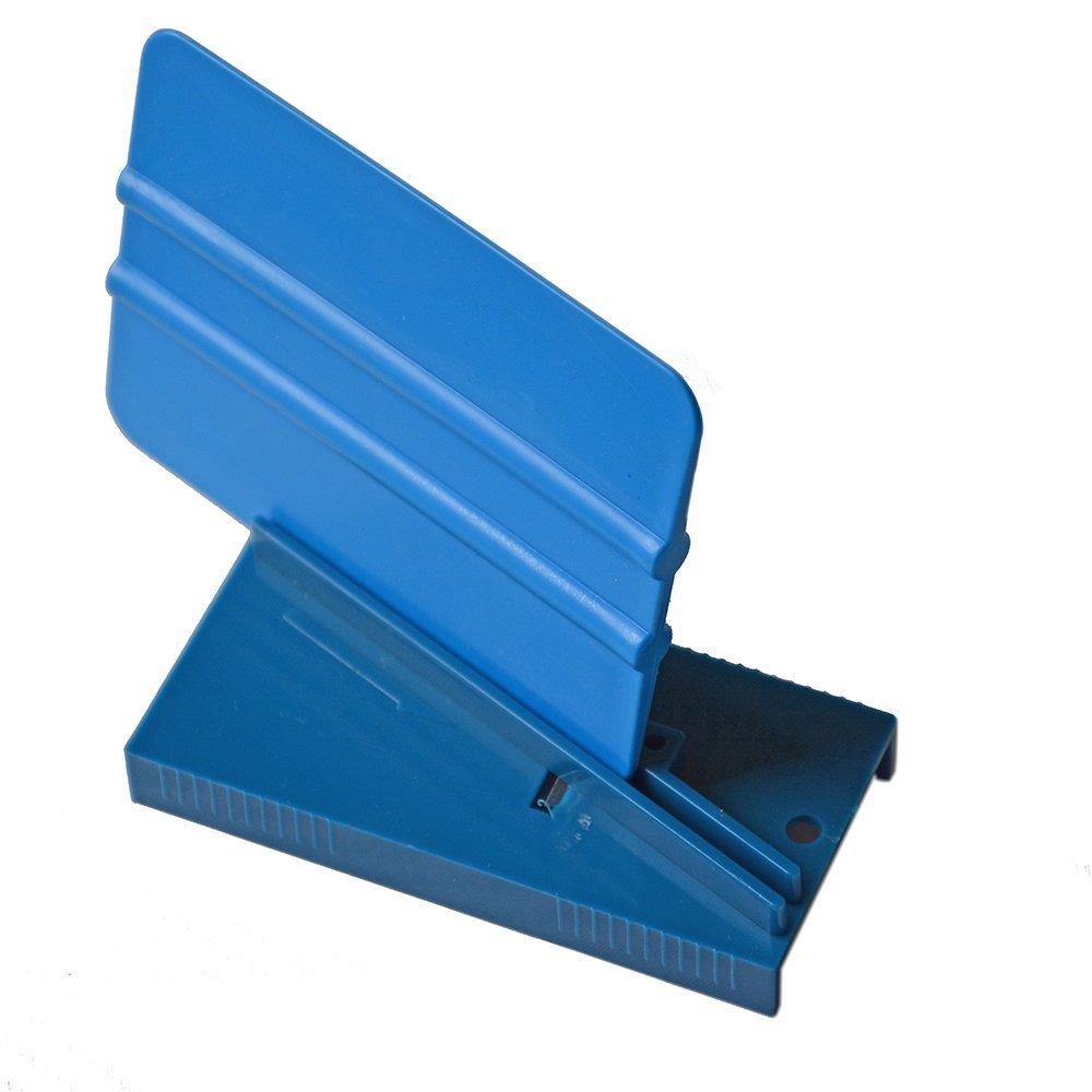 EHDIS Vinyl Film Car Wrap Ice Scraper Repair Tool Plastic Blue Squeegee Trimmer Hard Card Sharpening Tool Skiving Knife Tool