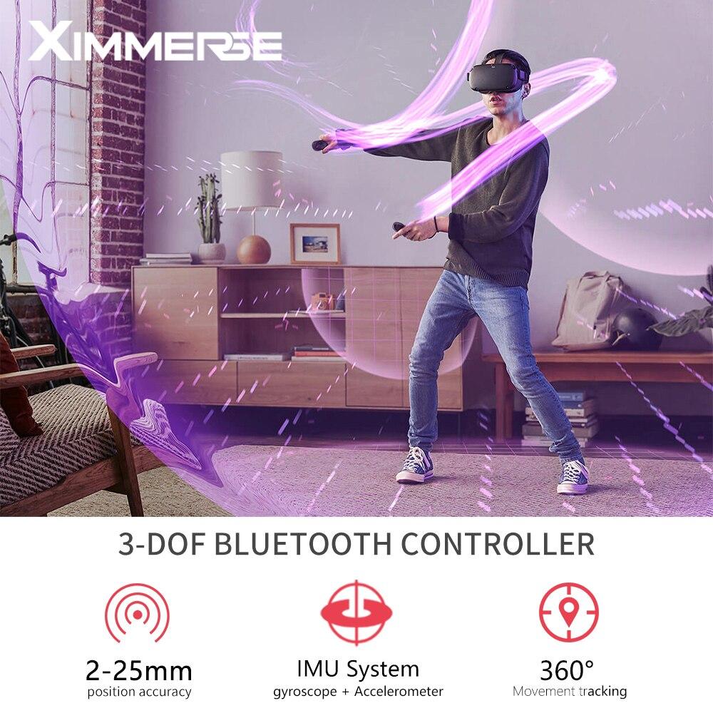 Ximmerse Virar Controlador 9 VR-Eixo Giroscópio Bluetooth 4.2 Gamepad Compatível com VR Headset 3 D Controlador Remoto do AR