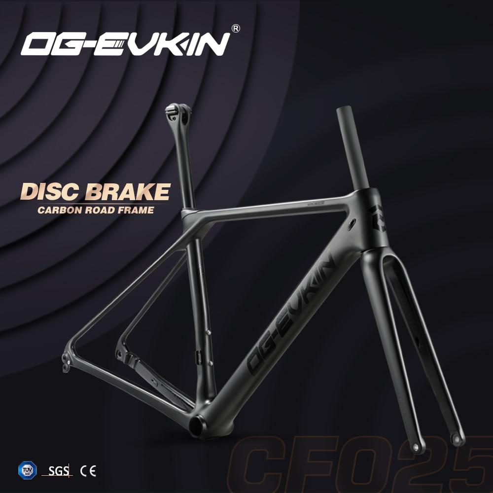 T1000 Carbon Road Frame Disc Brake UD BB86 Bicycle Disc Frame Di2 Frameset Fork Clamp XS S M L 1-1/8