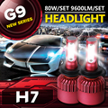 Auxbeam G9 Series CREE SMD Chips Car Led H7 Headlight Kits 6500K 80W/pair H7 Fog Lamps For Toyota/Honda Single Beam Car Bulbs