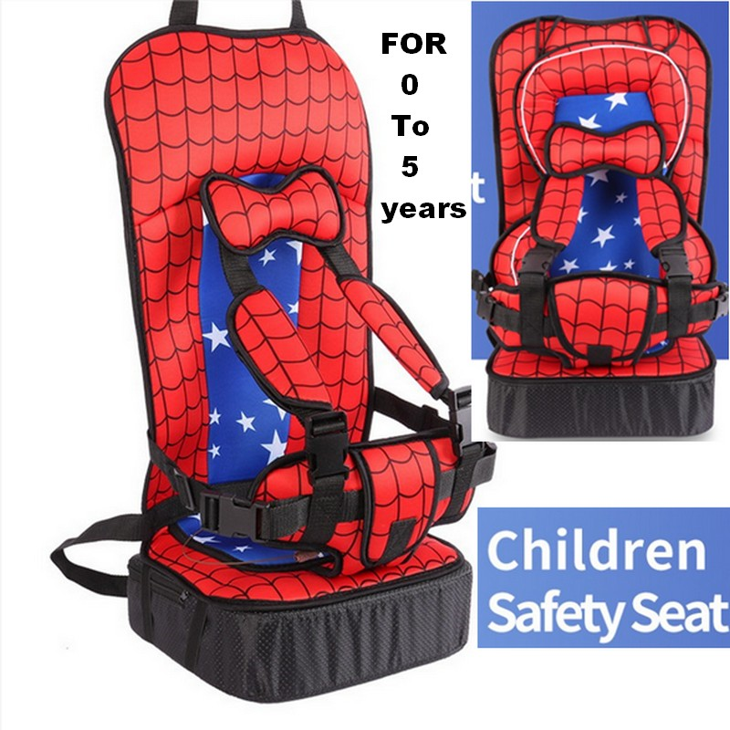 Child car safety seat 0-5 Years Old Spider-Man tyle Baby Car Seat Portable&Comfortable Infant Baby Safety Seat Infant Car Covers