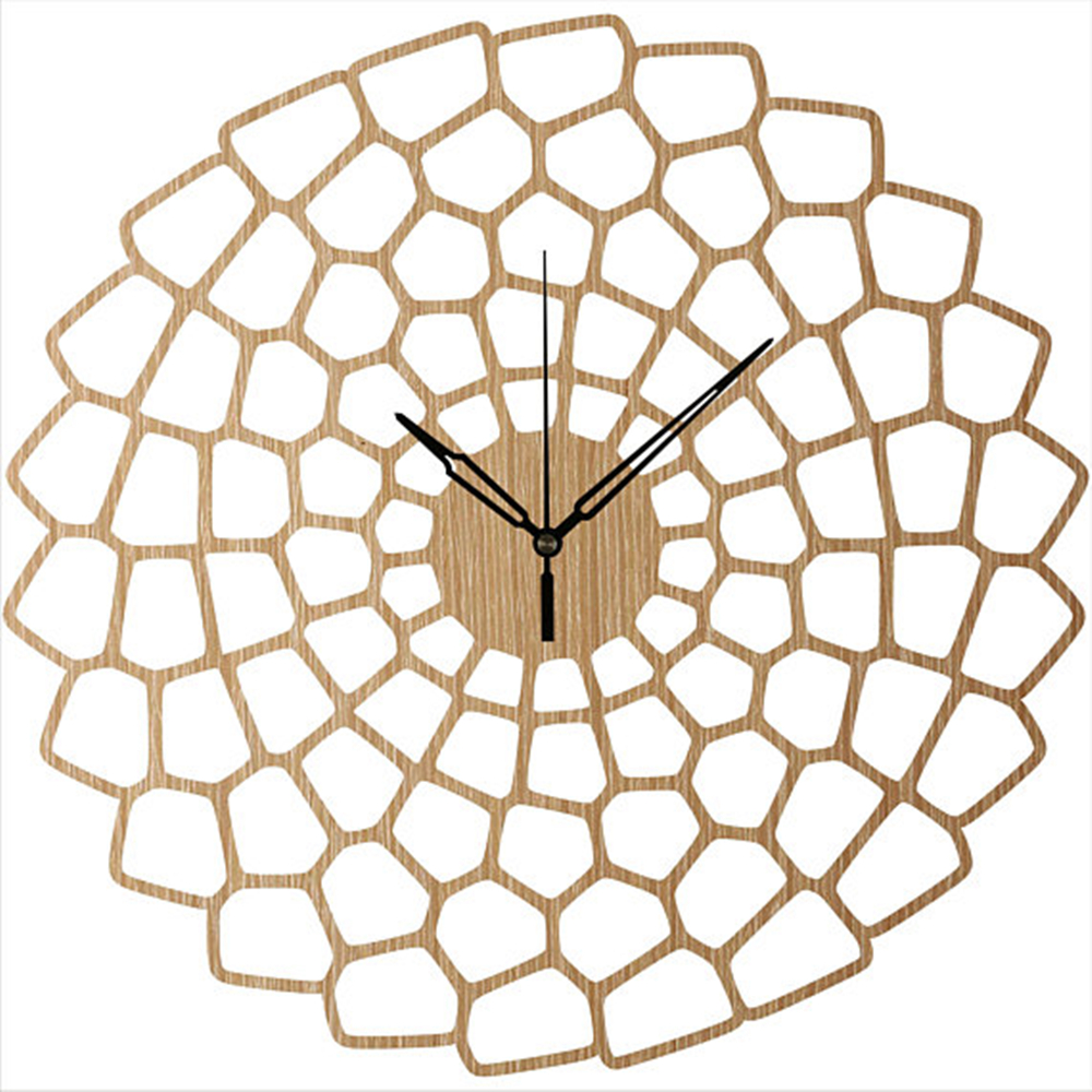 Us 24 93 42 Off Mid Century Art Clock Unique Wall Clocks Laser Cut Wooden Decorative Wood Sun Decor In From