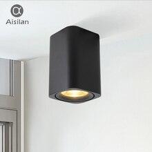 Aisilan светодиодный поверхностного монтажа площади Nordic потолочный светильник для комнаты/коридор/Прихожая/фойе AC85-260V удара Куба пятно света
