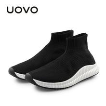 Zapatos de hombre Zapatillas de deporte Durable Rubber Sole Sport Shoes 2018 UOVO Slip-On Calcetín de diseño respirable de malla Zapatos de verano para hombres Eur # 40-45