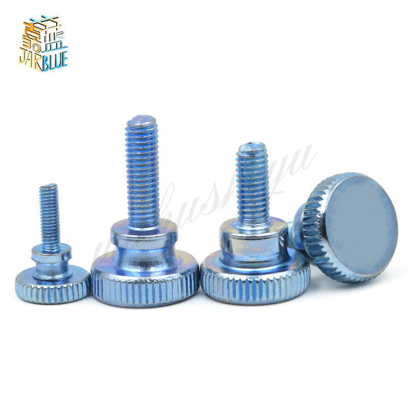 10Pcs DIN464 GB834 M3 Stainless Steel Knurling Head Knurled Thumb Screw Hand Tighten Curtain Wall Glass Lock Screws HW069