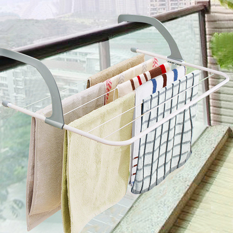 Outdoor Hanging Folding Hanger Window Balcony Drying Rack Radiator Guardrail Hook Shoe Rack Telescopic Vase Rack in Drying Racks Nets from Home Garden