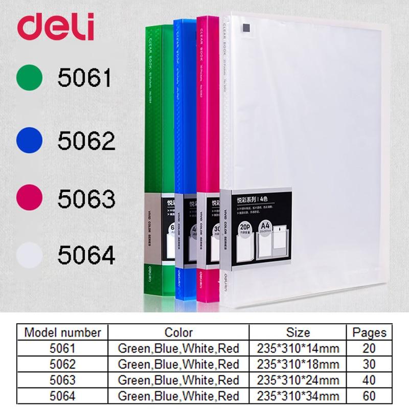 Deli Stationery Books 5062 Color A4 File Copies, 20 Pocket Folder Sheet Page 30 veritas famula 30 page 8