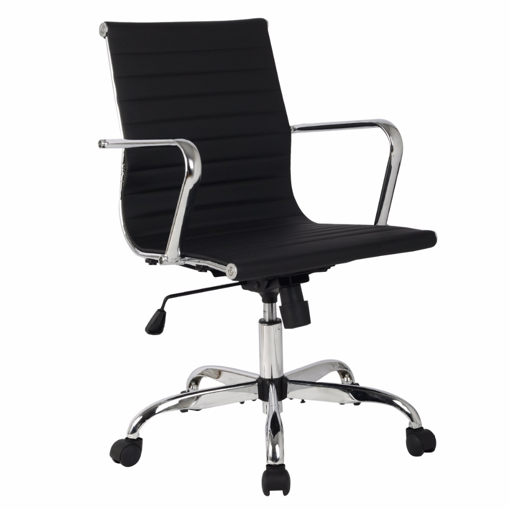 2016 New Hight quality  PU Leather High Back Office Chair Executive Task Ergonomic Computer Desk  HW51439BK 240335 computer chair household office chair ergonomic chair quality pu wheel 3d thick cushion high breathable mesh