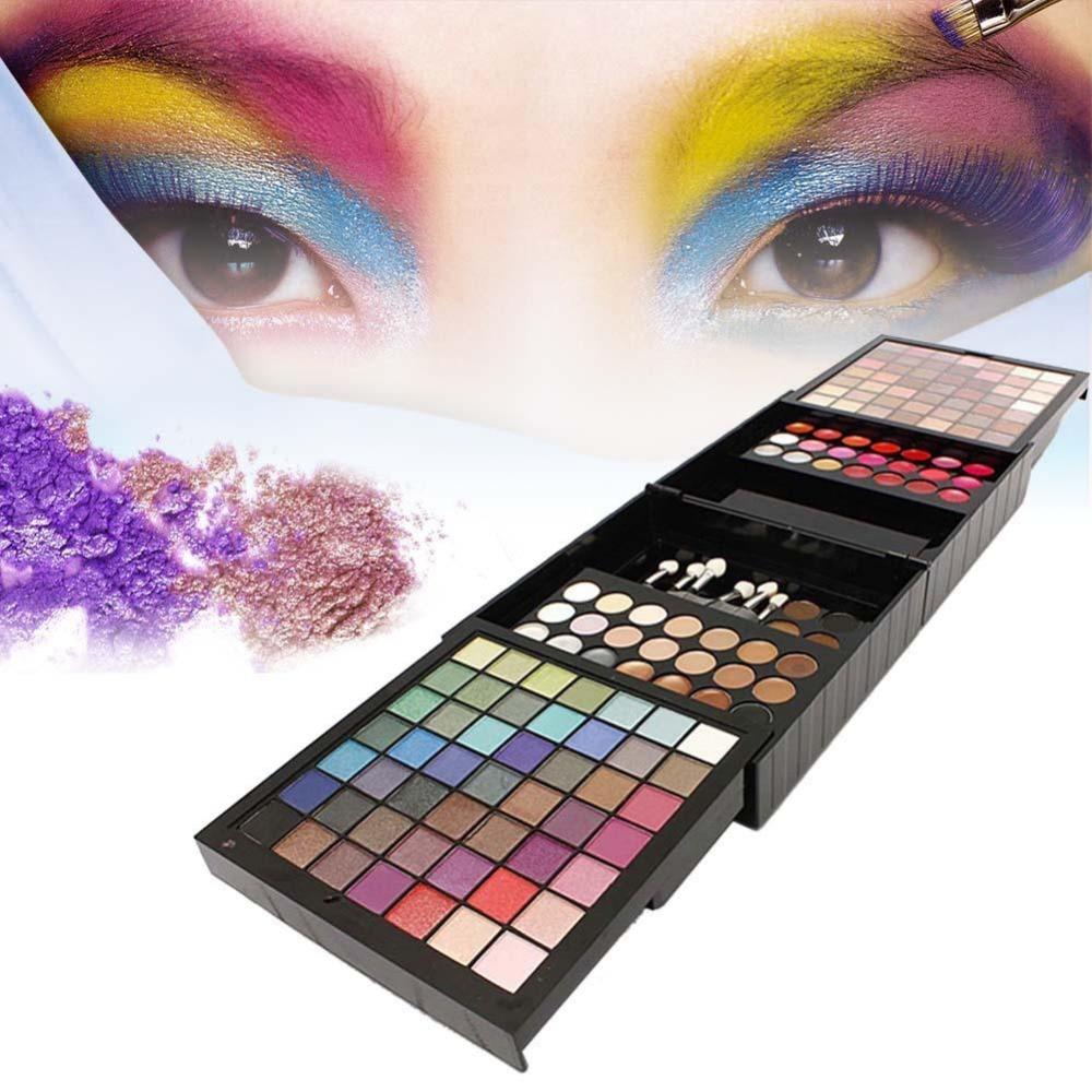 b style cosmetic makeup powder 6 eyeshadow 1 eyebrush 2 blusher palette set 2017 Hot Makeup Palette Set Eyeshadow Powder Concealer Blusher Lip Brow 177 Colors