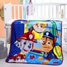 Textil Para El hogar mantas de punto de Dibujos Animados para niños Baby Girl Niños pata patrulla fabric100 * 140 cm tamaño de Dibujos Animados Manta Niño hoja