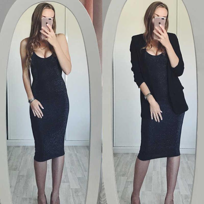 2018 летние женские черные платья, Осенний сарафан, сексуальное облегающее платье на бретельках, макси, Длинные вечерние платья для женщин, Femme