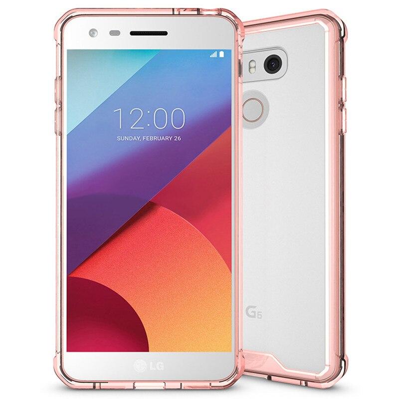 E համար LG G6 Case Crystal Hybrid Bumper Clear TPU PC - Բջջային հեռախոսի պարագաներ և պահեստամասեր - Լուսանկար 5