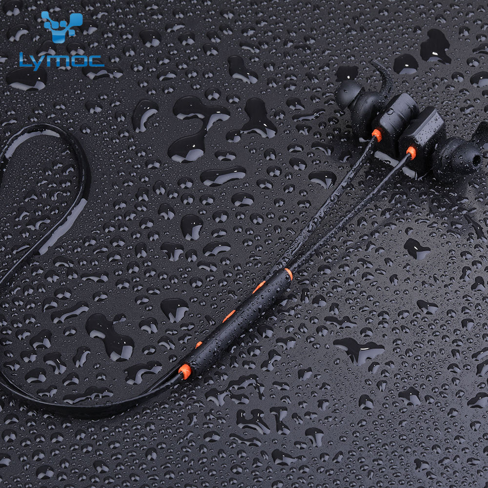 LYMOC Magnet Bluetooth Earphones IPX5 Waterproof Outdoor Sport Running Wireless Headphone Headset With Mic for IOS Android Phone