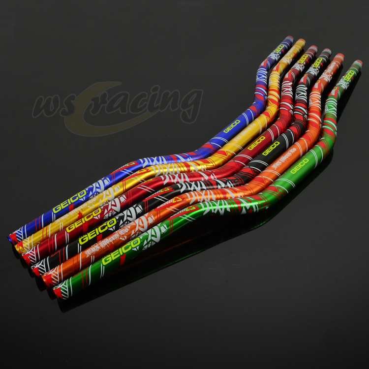 Motorcycle 1 1/8 28mm Handlebars Fat Bar Handle Tubes Wheel For KTM CRF YZF WRF RMZ RMX KLX KXF Pit Dirt Bike 7 color all handle bars 7 8 of motorcycle gel rubber handlebar grips for crf yzf wrf kxf klx ktm rmz pit dirt bike motocross