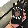 Camiseta Negan The Walking Dead hard Plastic black Case Cover for Apple iPhone 5 5S SE 6 6S 6S Plus 7 7Plus Cases