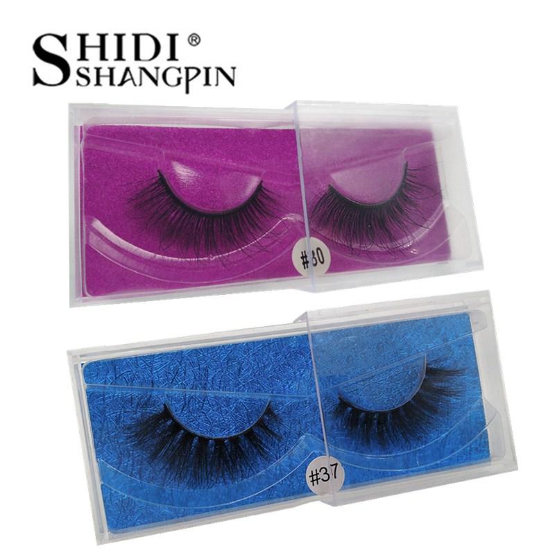 1 Pair 3d mink lashes false eyelashes natural makeups volume mink eyelashes handmade eyelash extensions maquiagem faux cils