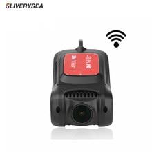 SLIVERYSEA Dash Camera WiFi Full HD 1080P Car DVR Dashcam Without Screen 170 Degree Video Camera Recorder With Night Vision цена в Москве и Питере