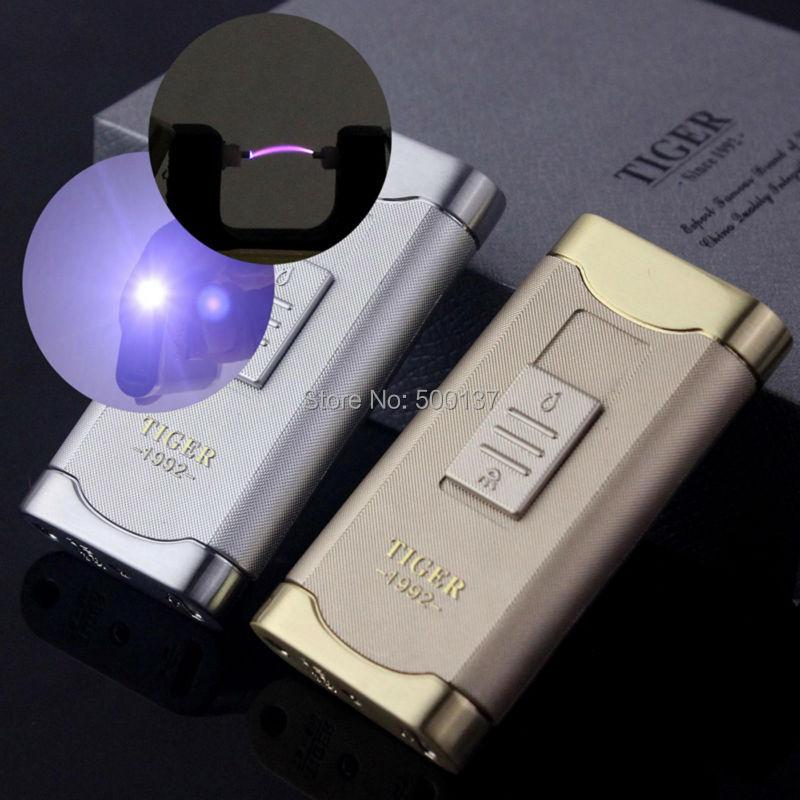 FIREDOG Brand Rechargeable lighter Electronic lighter Cigarette USB Windproof Arc Lighter W Led Lighter HP 899