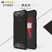 For Oneplus 7 Case Shockproof Armor Soft Silicone Rubber Hard PC Phone Back Cover 1+7 Fundas