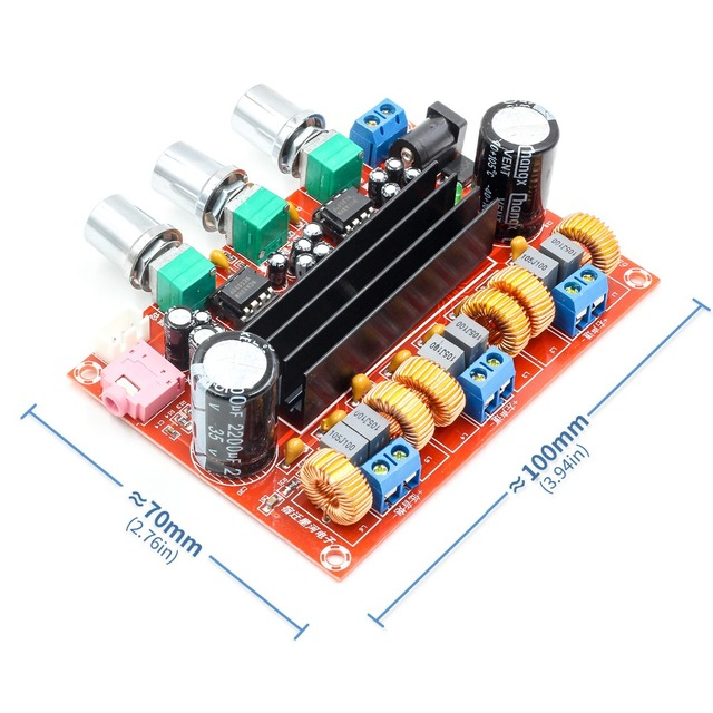 Новый усилитель доска TPA3116D2 50Wx2 + 100 W 2,1 канала цифровой сабвуфер Мощность 12 ~ 24 V